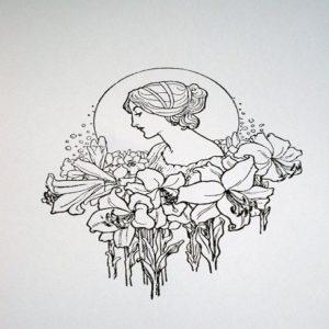 marine rousseau femme fleurs pinterest